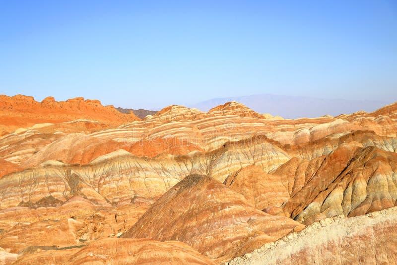 Tęcz góry, Zhangye Danxia Landform Geological park, Gansu, Chiny obrazy stock
