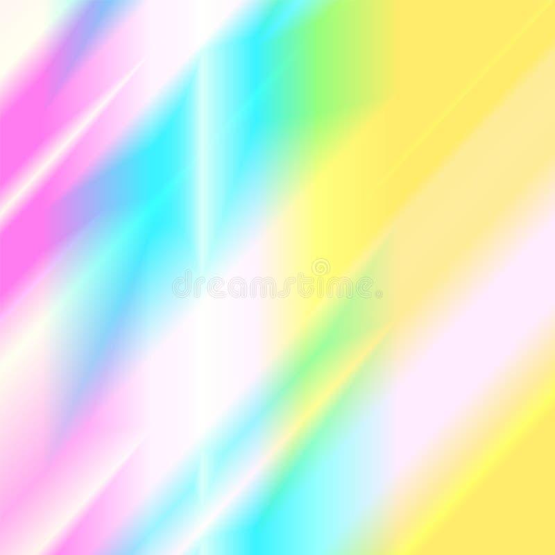 Tęcz jarzeniowi odbicia światło Holograficzna dyspersja i odbicie w szkle ilustracji