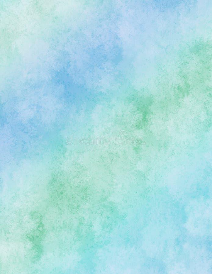 tęcza akwarela niebieskiego papieru ilustracji