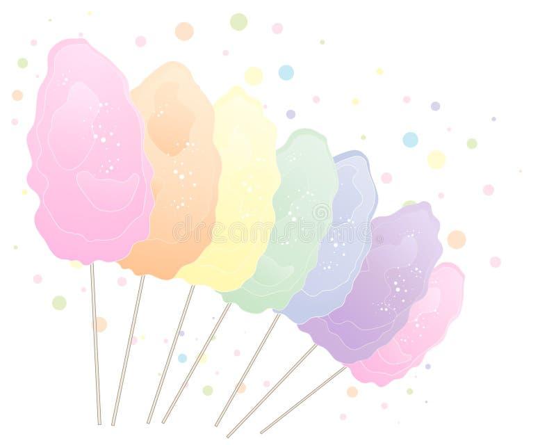Tęcza bawełniany cukierek ilustracja wektor
