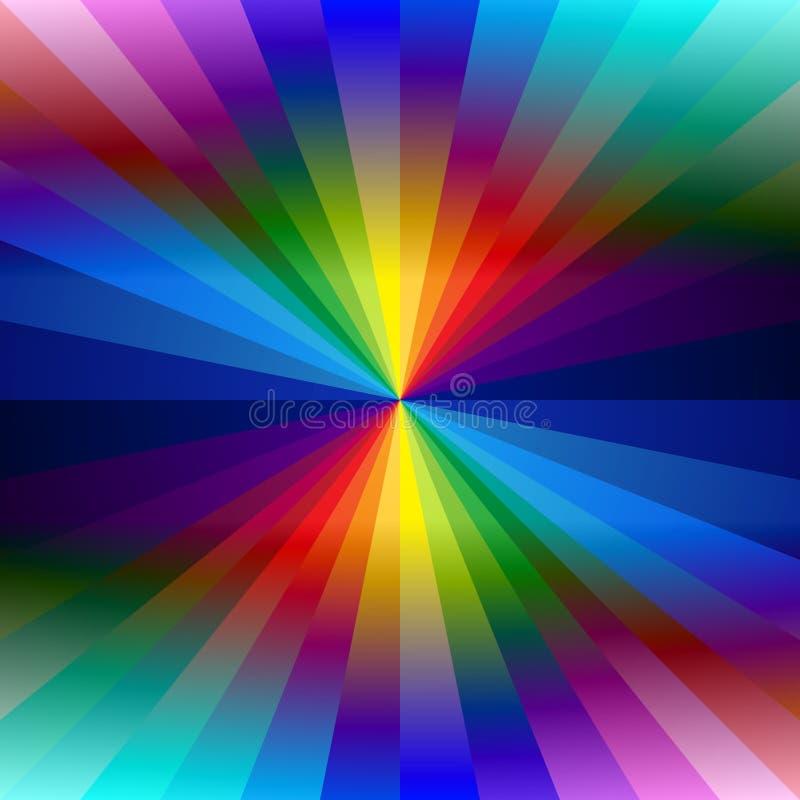Tęcza kalejdoskopu kolorowy tło ilustracja wektor