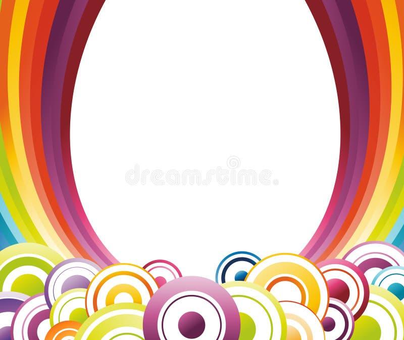 tęcza karciany kolorowy szablon ilustracji