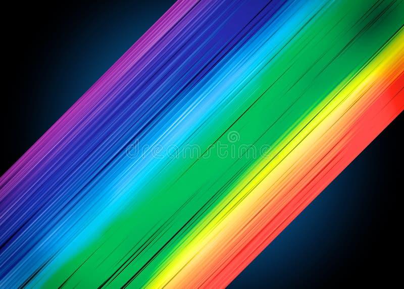 Tęcza kolor paskuje tło ilustracja wektor
