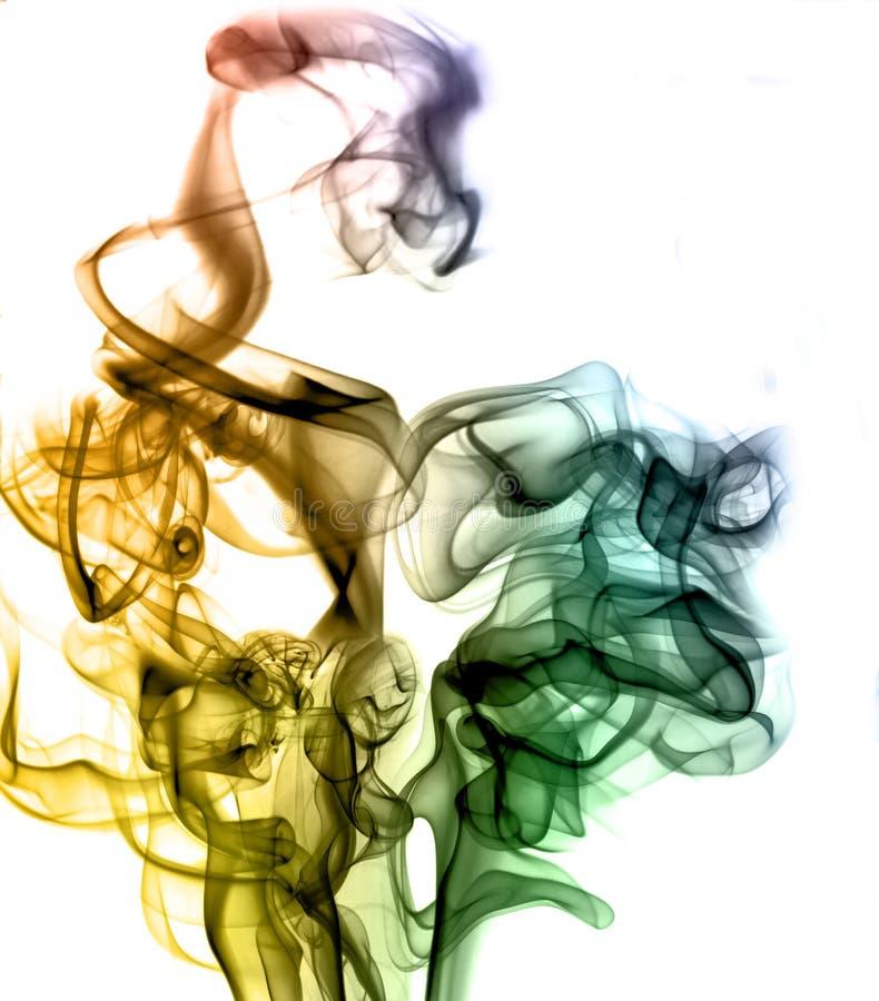 tęcza kolorowy dym obraz stock