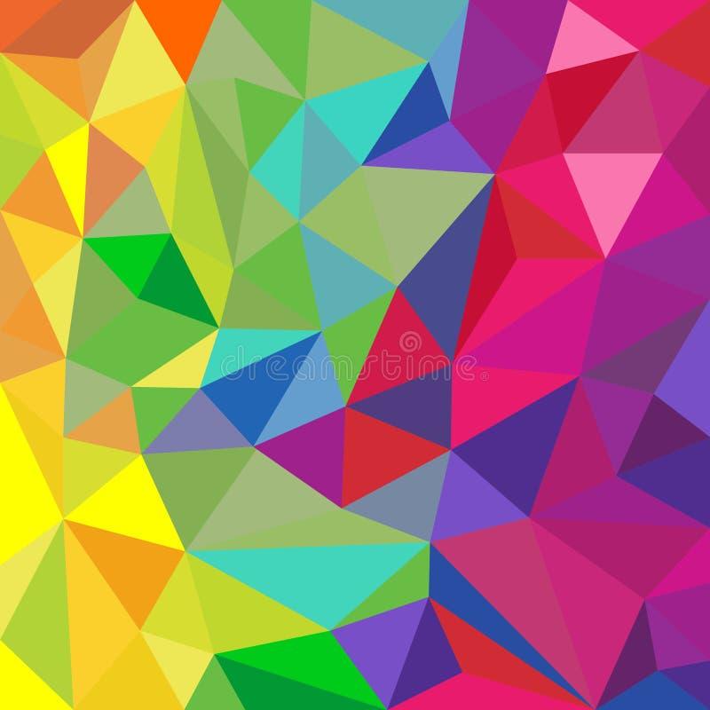 Tęcza koloru trójgraniasty deseniowy abstrakcjonistyczny tło ilustracji