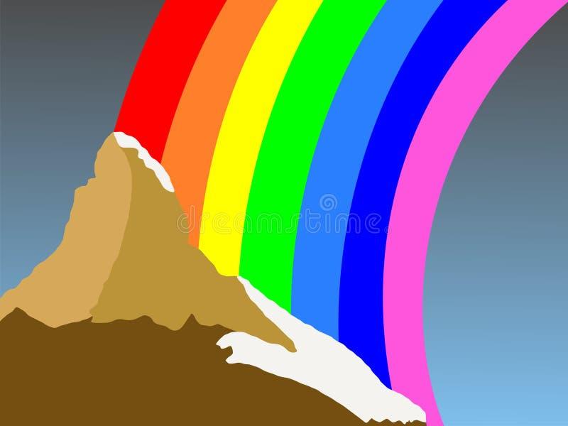 tęcza matterhorn ilustracja wektor