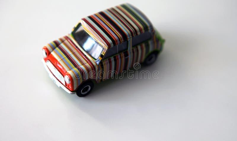 Tęcza modela zabawki samochodowy biały tło zdjęcie stock
