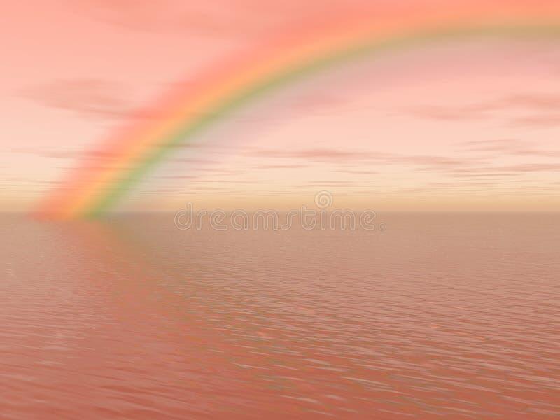 tęcza morza royalty ilustracja
