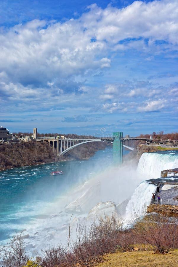Tęcza most nad Niagara rzeki wąwóz obraz stock