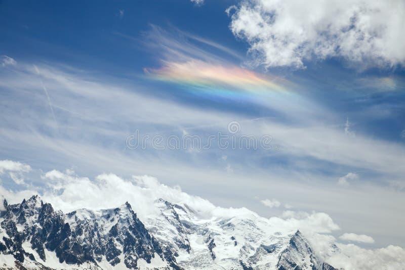 Tęcza na chmurze zdjęcie royalty free