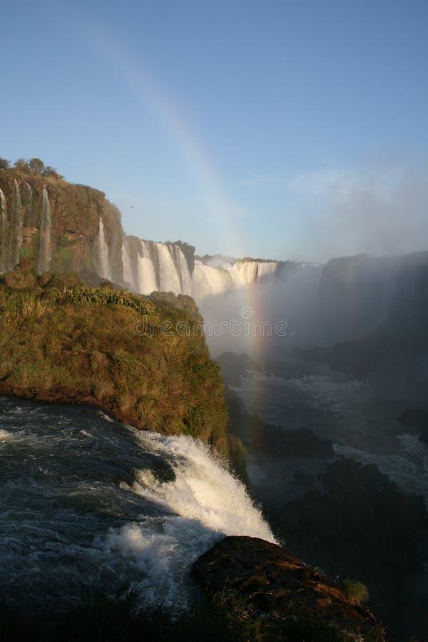Tęcza nad Iguacu spadkami - Argentyna fotografia royalty free