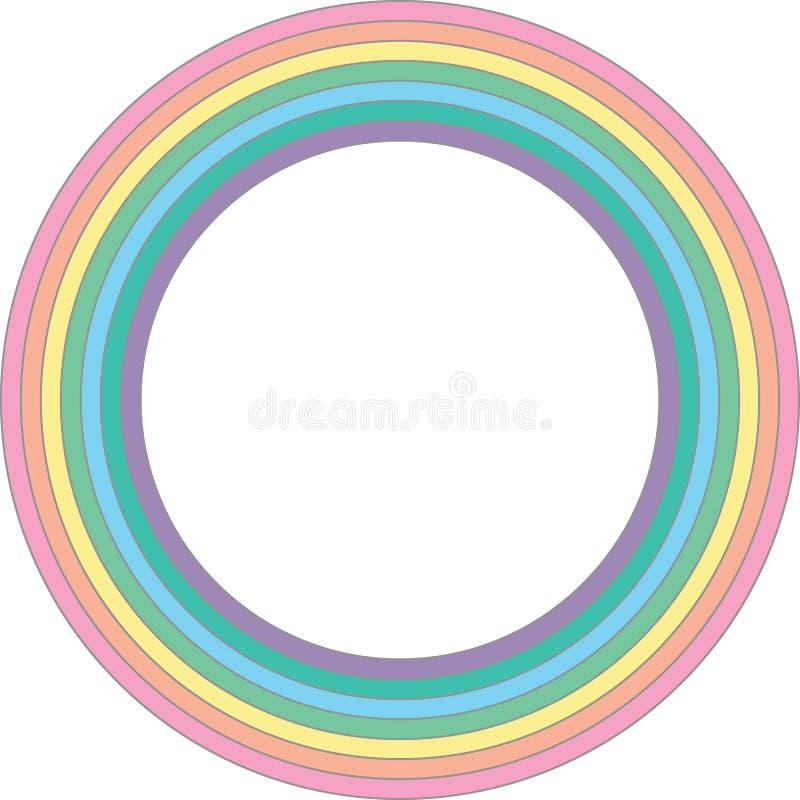 Tęcza pastelowy okrąg - wektorowy element ilustracja wektor