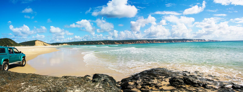Tęcza Plażowy Australia zdjęcia royalty free