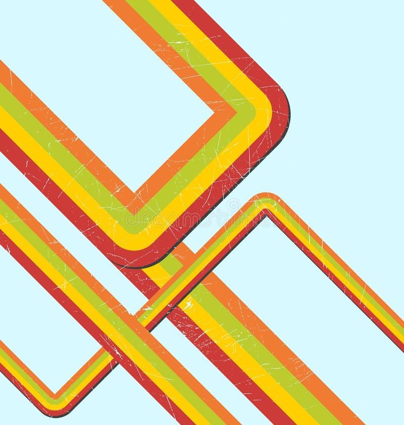 tęcza retro ilustracja wektor