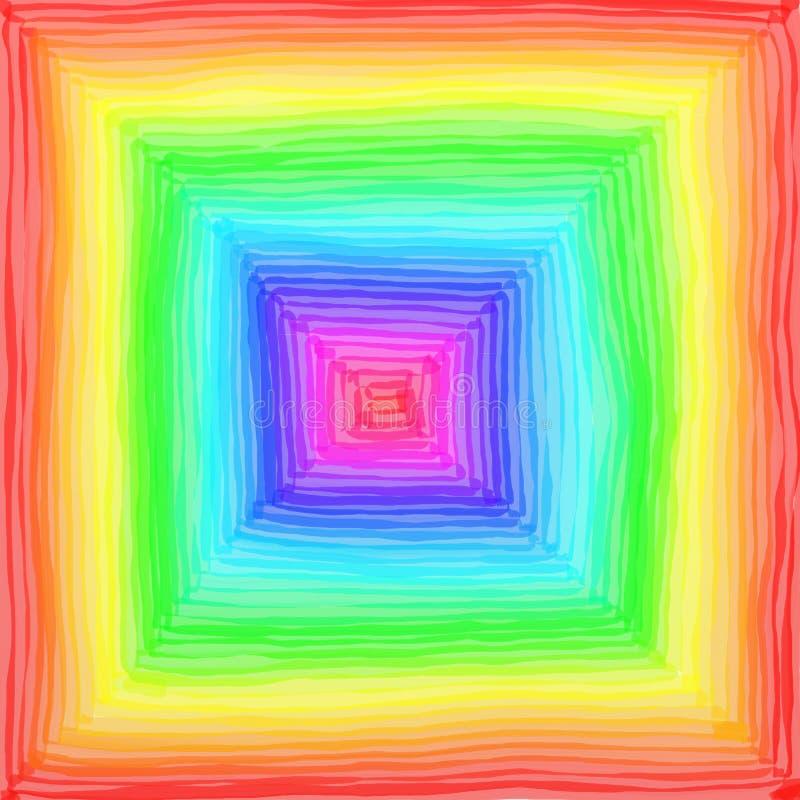 tęcza square ilustracji