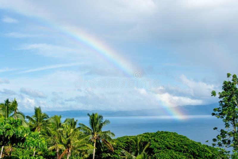 Tęcza w Fiji zdjęcie stock