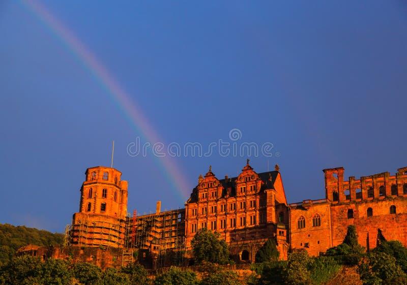Tęcza w Heidelberg zdjęcia stock