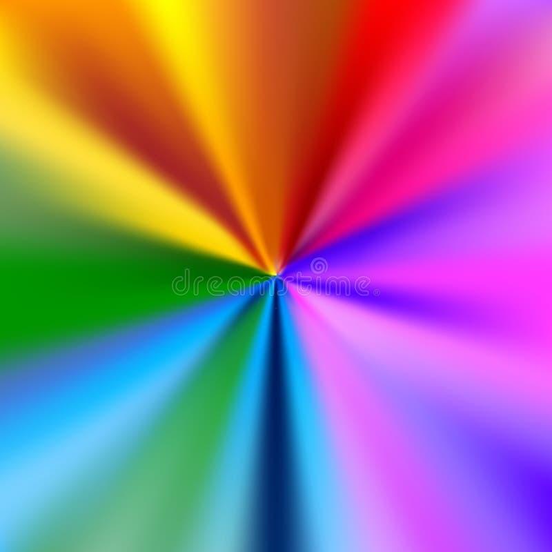 Tęcza wybuchu abstrakcjonistyczny tło, koloru widmo ilustracji