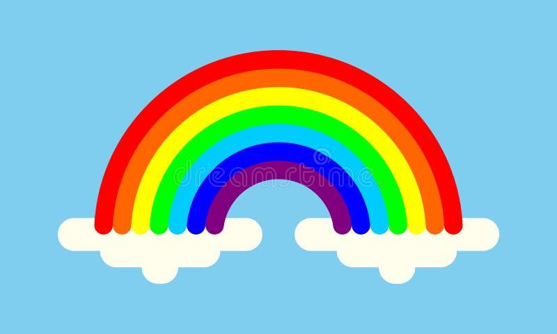 Tęcza z chmura kolorowym symbolem royalty ilustracja