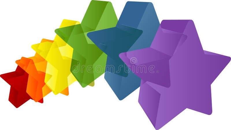 tęczowe gwiazdy ilustracji
