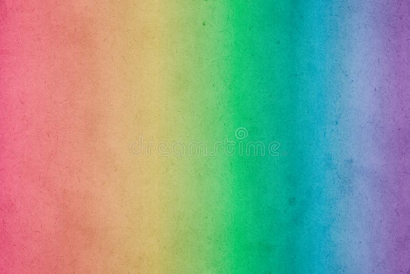 Tęczy akwareli kolorowa gradientowa farba na starym papierze fotografia royalty free