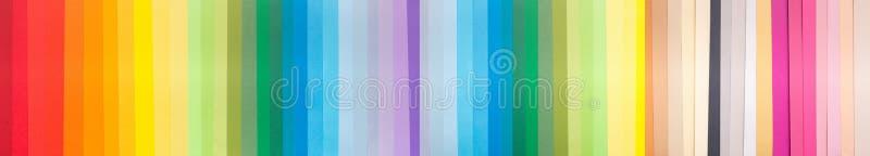 Tęczy barwiona paleta z próbkami kolory zdjęcia royalty free