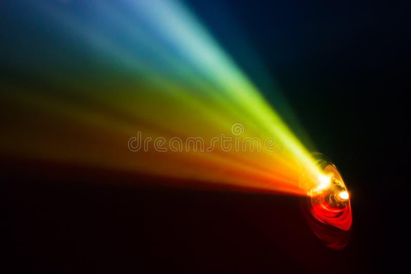 Tęczy dymny światło reflektorów zdjęcie royalty free