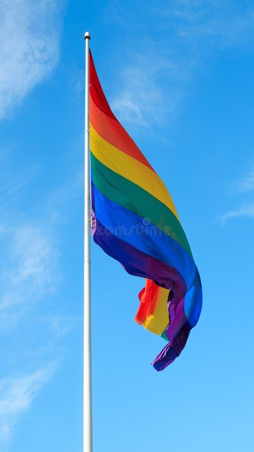 Tęczy flaga Wiecznie pokój zdjęcie royalty free
