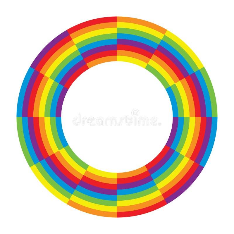 Tęczy koła round okrąg ilustracja wektor