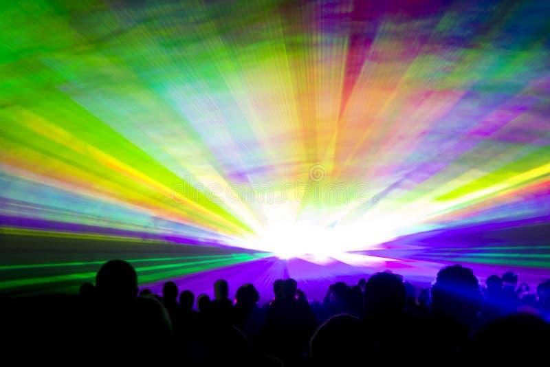Tęczy laserowy przedstawienie obraz royalty free