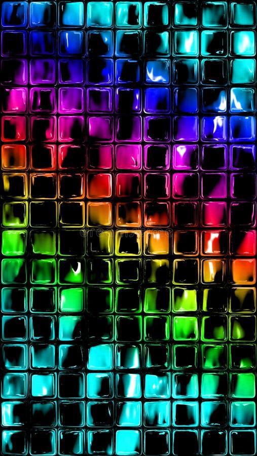 Tęczy mozaiki Szklane płytki ilustracji