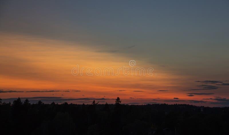 Tęczy niebo zdjęcie royalty free