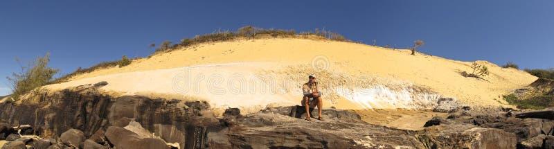 Tęczy plaża, Queensland, Australia obraz royalty free