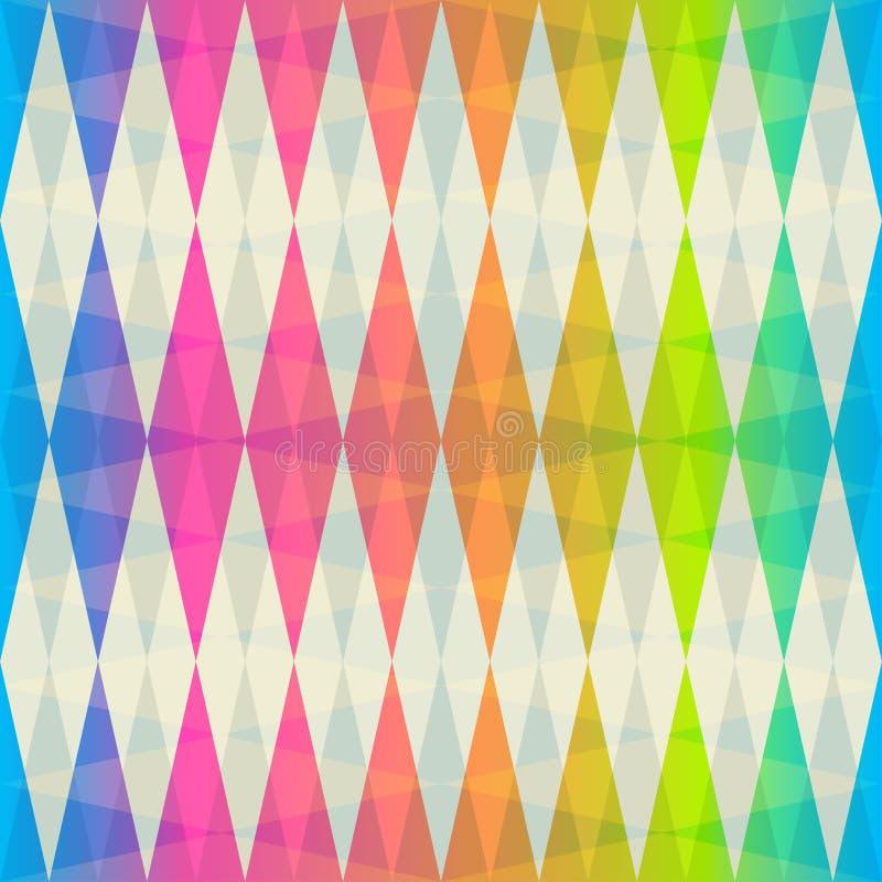 Tęczy rhombus bezszwowy wzór ilustracja wektor