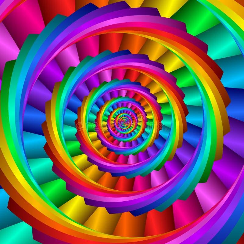 tęczy spirala royalty ilustracja