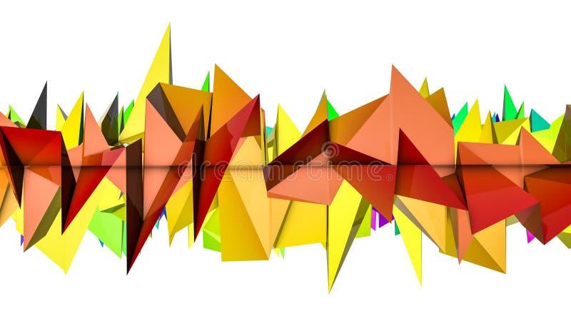 Tęczy szpotawy trójwymiarowy abstrakcyjny t?o 3 d czyni? ilustracja wektor