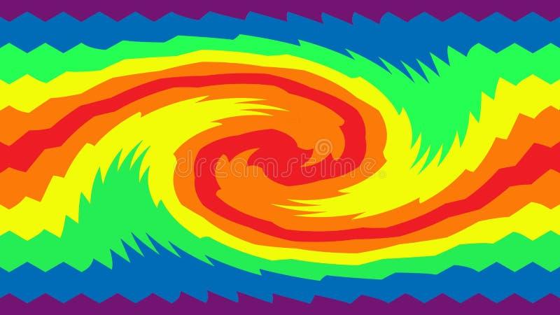Tęczy twirl ilustracja wektor
