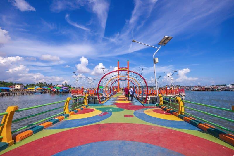 Tęczy wioska przy tanjung pinang bintan wyspą obrazy stock