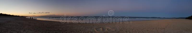 Tęczy zimy Plażowy zmierzch fotografia royalty free