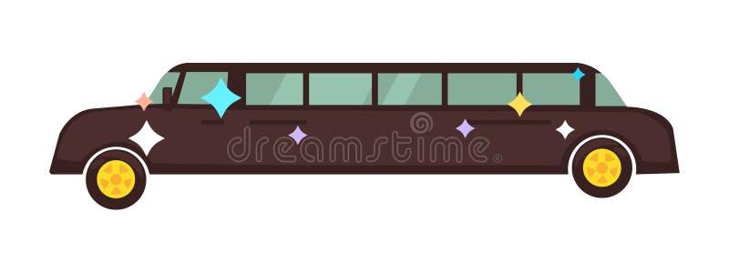 Tęsk dyskoteki limuzyna która błyszczy odosobnioną kreskówki ilustrację royalty ilustracja