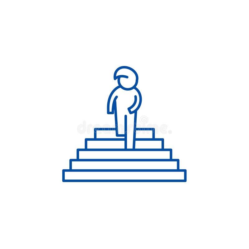 Tęsk kreskowy ikony pojęcie Pragnienie płaski wektorowy symbol, znak, kontur ilustracja royalty ilustracja