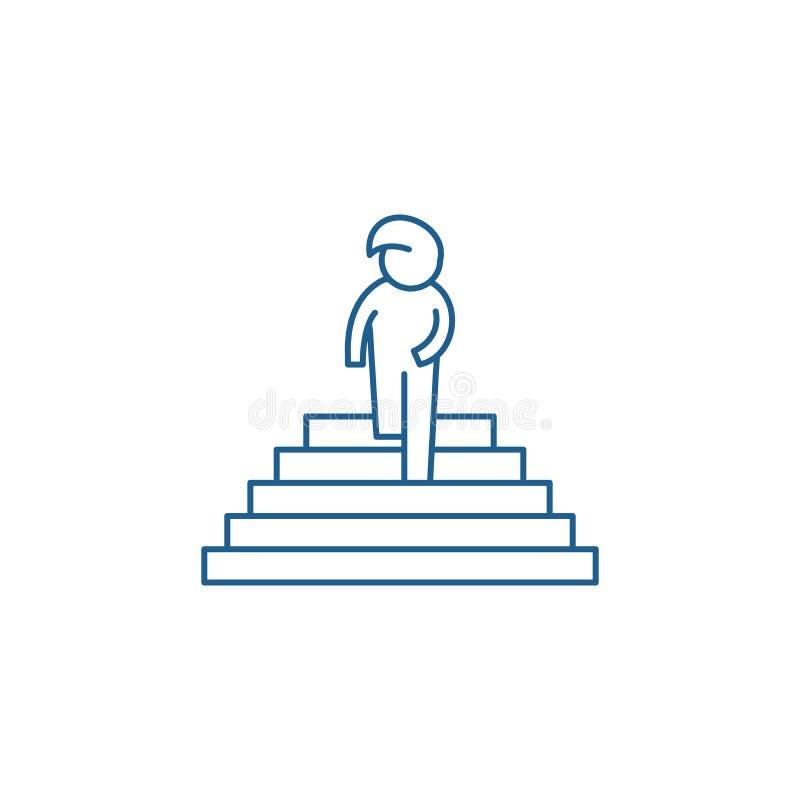 Tęsk kreskowy ikony pojęcie Pragnienie płaski wektorowy symbol, znak, kontur ilustracja ilustracja wektor