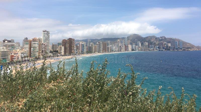 Tęsk plaża w lecie Spain obrazy royalty free