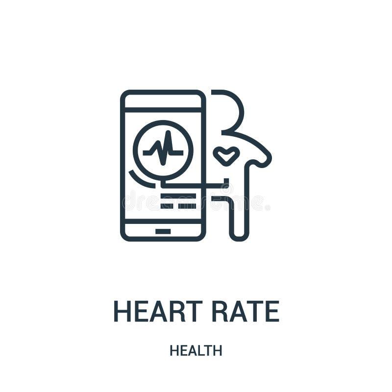 tętno ikony wektor od zdrowie kolekcji Cienka kreskowa tętno konturu ikony wektoru ilustracja Liniowy symbol dla używa na sieci ilustracji