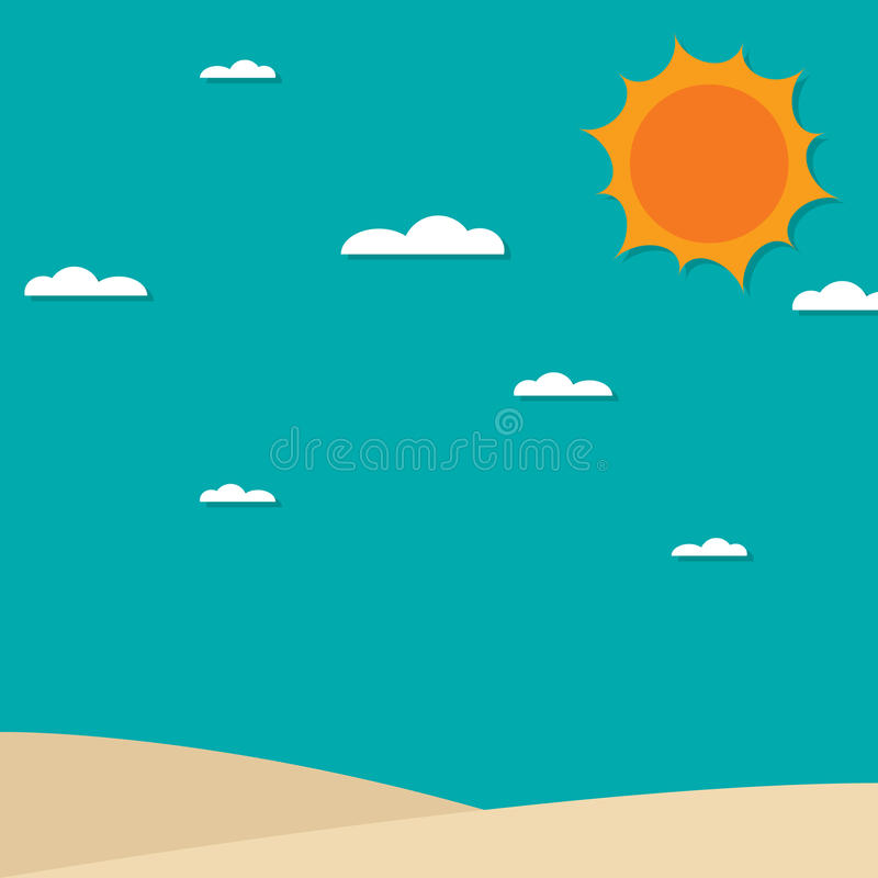 tła łódkowaty denny lato wektor ilustracji