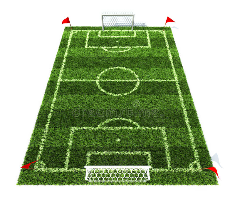tła śródpolnego futbolu odosobniony biel ilustracja wektor