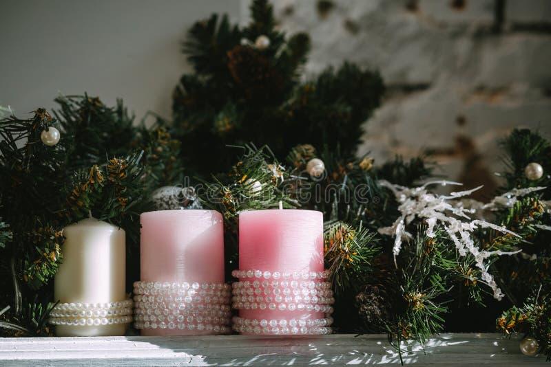 tła świeczek boże narodzenia zdjęcie stock