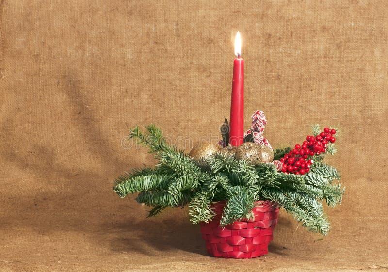 tła świeczki bożych narodzeń dekoraci prezenta złoty xmas obraz royalty free