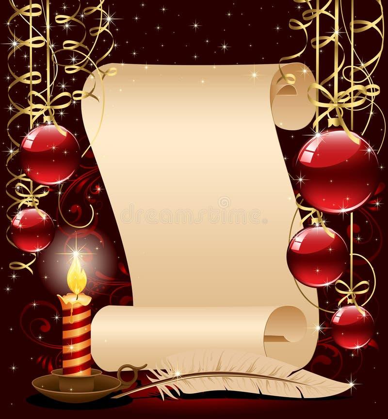 tła świeczki bożych narodzeń feathe papier ilustracji