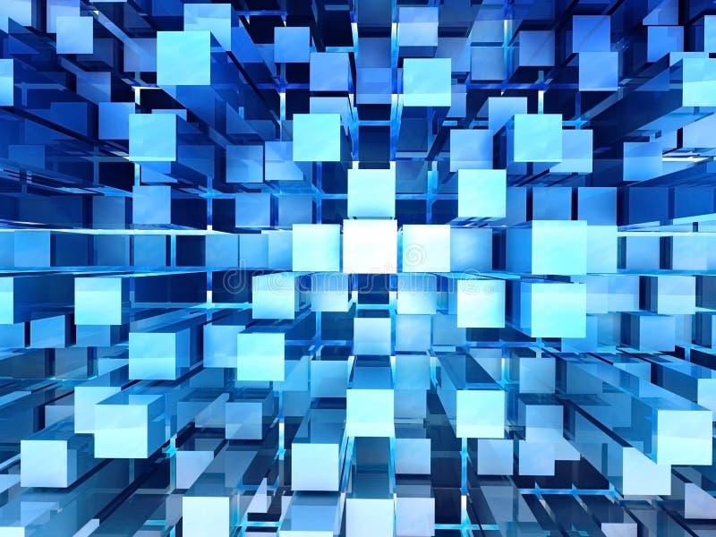 tła abstrakcjonistyczny błękit ilustracji